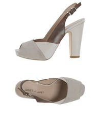 Janet And Janet Footwear Sandals Women Light Grey