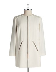 Tahari By Arthur S. Levine Plus Structured Topper Coat