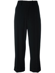 Chloe Cropped Tailored Trousers Black