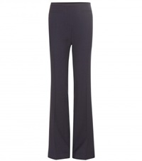Tory Burch Flared Wool Trousers Blue