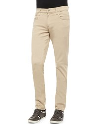 Hudson Jeans Blake Five Pocket Slim Straight Jeans Beige