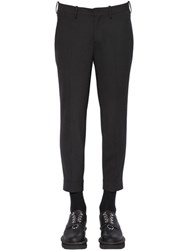 Neil Barrett Zip Cuffs Wool Blend Gabardine Pants