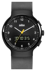 Men's Braun 'Classic' Rubber Strap Watch 44Mm
