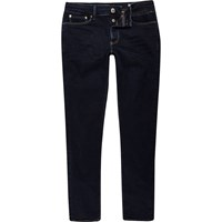 River Island Mens Dark Blue Wash Sid Skinny Jeans