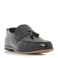 Linea Rollow Tassel Detail Loafer Shoes Black