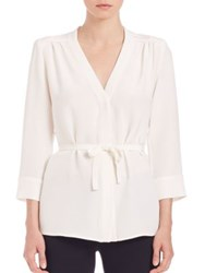 Goat Brittany Belted Silk Shirt Cream