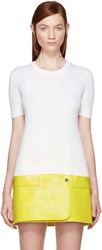 Courreges White Rib Knit Sweater