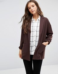 Vero Moda Classic Blazer Black Coffee Brown