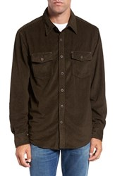 True Grit Men's Sueded Corduroy Shirt Brown