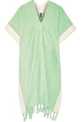 Lisa Marie Fernandez Cotton Terry Poncho Green