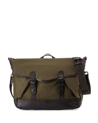 Cole Haan Flap Top Canvas Messenger Bag Olive