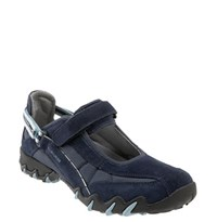 Women's Allrounder By Mephisto 'Niro' Athletic Shoe Dark Blue Suede