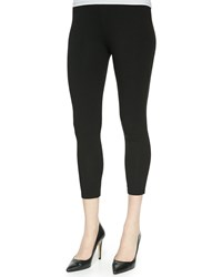 Joan Vass Jersey Ankle Leggings Women's Black