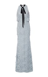 Sachin Babi And Nina Fitted Cut Out Gown Light Blue