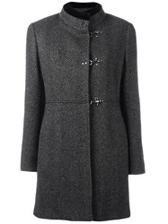Fay Tweed Duffle Coat Grey