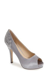 Women's Menbur 'Sanco' Peep Toe Pump Grey