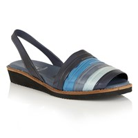 Lotus Aaliyah Peep Toe Sling Back Sandals Blue