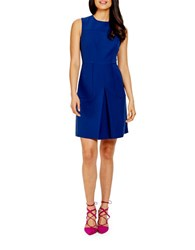 Donna Morgan Fit And Flare Pleat Dress Navy