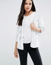 Vero Moda Archtic Sequin Blazer In White White