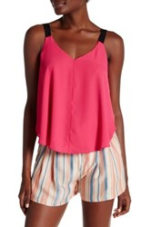 Necessary Objects Strapped V Neck Cami Pink