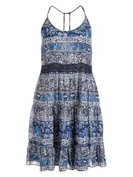 Accessorize Kalani Lace Insert Cami Dress Blue