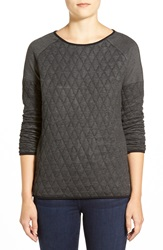 Jag Jeans 'Lorna' Quilted Jersey Top Charcoal Heather