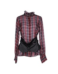Met Shirts Shirts Women Brick Red