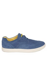 Diesel Primetivers Leather Wingtip Sneakers Blue