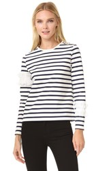 Leur Logette Ruffle Long Sleeve Top Stripe