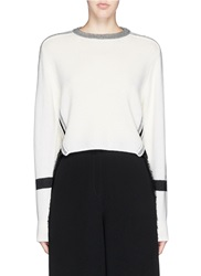Toga Archives Raffia Insert Wool Sweater White