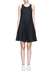 James Perse Linen A Line Rompers Black