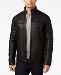 Inc International Concepts Men's Lionel Faux Leather Moto Jacket Only At Macy's Black