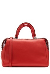 Max Mara Leather Tote Red