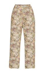 Isa Arfen Classic Abstract Field Cropped Pants Multi