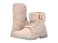 Palladium Baggy Linen Silver Birch Women's Lace Up Boots Pink