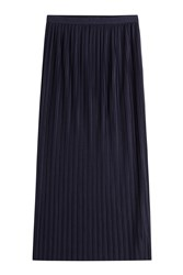 Theory Pleated Long Skirt Blue