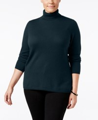 Charter Club Plus Size Cashmere Turtleneck Sweater Only At Macy's Admiral Navy