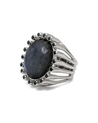 Stephen Dweck Oval Moonstone Ring Blue