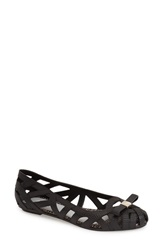 Melissa Jason Wu 'Jean' Jelly Flat Women Black Jelly