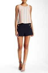 Necessary Objects Button Front Short Blue