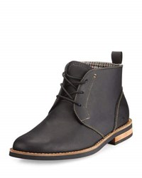 Penguin Merle Leather Lace Up Chukka Boot Black