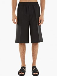 Acne Studios Black Wool Blend Ryder Shorts