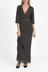 Missoni Lame Elbow Sleeve Dress Bronze