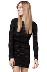 Women's Topshop Sheer Stripe Body Con Dress