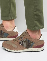 Tommy Hilfiger Denim Barton Camo Runner Trainers Tan