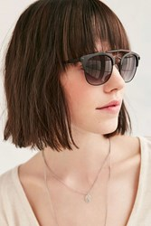 Urban Outfitters Tortoise Brow Bar Frame Sunglasses Black