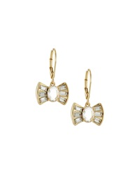 Fragments For Neiman Marcus Fragments Crystal Bow Drop Earrings