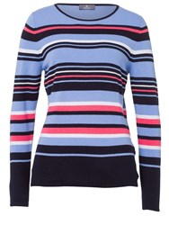 Basler Sweater With Striped Pattern Navy