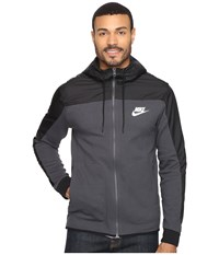 Nike Nsw Av15 Hoodie Full Zip Ssnl Anthracite Black White Men's Sweatshirt