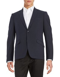 Sondergaard Checkered Two Button Blazer Navy